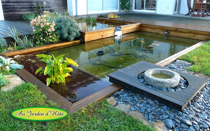 Au jardin d 39 h te r alisations vente installation for Plante bassin poisson